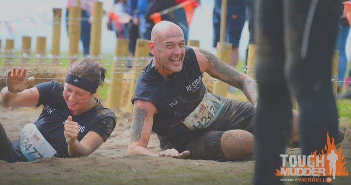 Rick Wilson, the author of Learn the Quickest Way to Lose Weight Ever at a tough mudder event